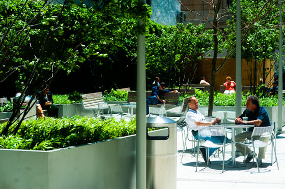 Urban plaza at trump the hudson square connection a business improvement district - Small urban spaces image ...